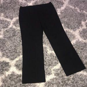 VGUC Size 16 Sag Harbor Black Stretch slacks pants